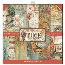 Stamperia - Double-Sided 12 x 12 Inch Paper Pack - Time is an Illusion